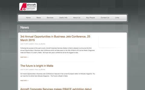 Screenshot of Press Page acsmalta.com - News - acsmalta.com - captured Oct. 4, 2014