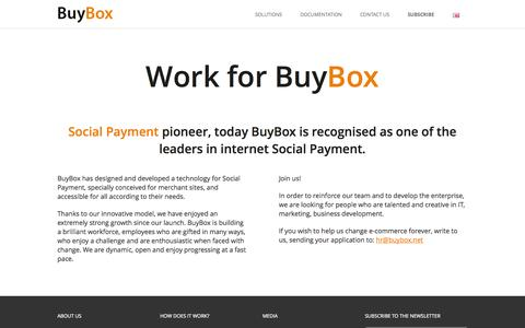 Screenshot of Jobs Page buybox.net - Work for BuyBox - captured Sept. 12, 2014