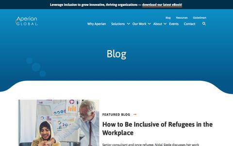 Screenshot of Blog aperianglobal.com - See Diversity & Inclusion in Action | Aperian Global Blog - captured Nov. 6, 2019