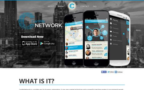 Screenshot of Home Page canwenetwork.com - CanWeNetwork – Download Now - captured July 11, 2014