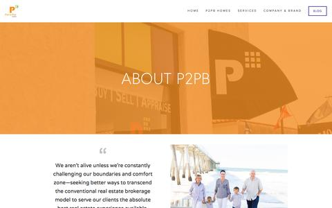 Screenshot of About Page piertopierbrokers.com - About P2PB — Pier to Pier Brokers (P2PB) - captured Jan. 28, 2016