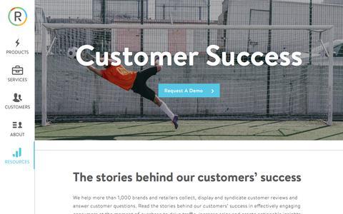 Screenshot of Case Studies Page powerreviews.com - Customer Success • PowerReviews - captured Sept. 23, 2017