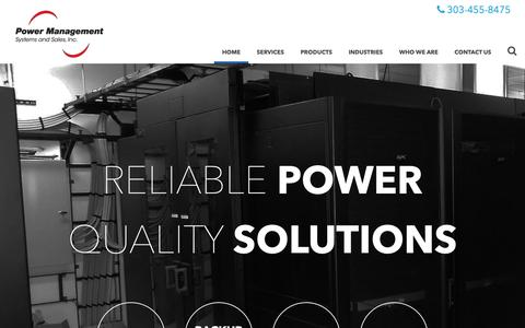 Screenshot of Home Page pmssinc.com - Power Management Company | Power Management Systems & Sales - captured Sept. 29, 2018
