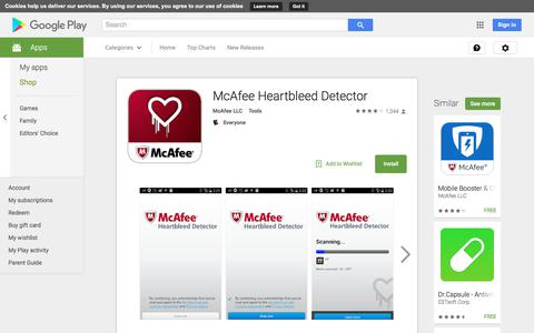 McAfee Heartbleed Detector - Android Apps on Google Play