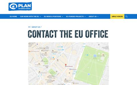 Screenshot of Contact Page plan-international.org - Contact the EU Office | Plan International - captured Nov. 20, 2018