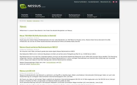 Screenshot of Press Page nessus.at - News | NESSUS GmbH - captured Feb. 5, 2016