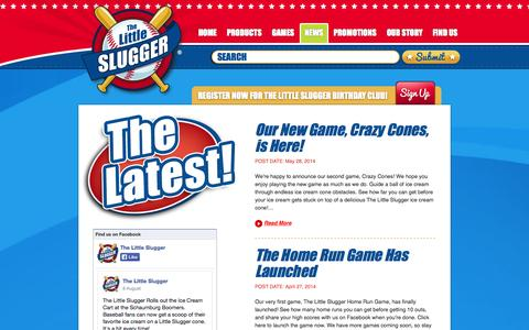 Screenshot of Press Page thelittleslugger.com - News - The Little Slugger - captured Sept. 30, 2014