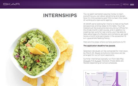 Internships – SKAR Advertising