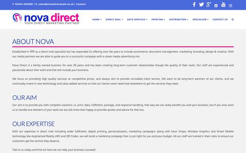 Screenshot of About Page novadirectmail.co.uk - About Nova Direct | Nova Direct - captured Oct. 20, 2018