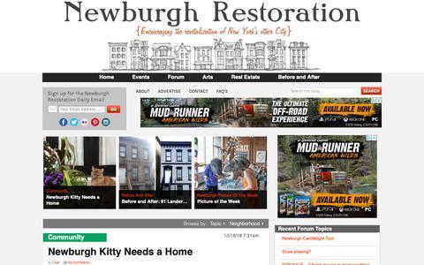 Screenshot of Home Page newburghrestoration.com - Newburgh Restoration | Leading the revitalization of Newburgh, NY - captured Oct. 23, 2018
