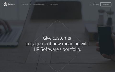 Screenshot of Products Page hpengage.com - Customer Engagement Portfolio | HP Software - captured March 10, 2016