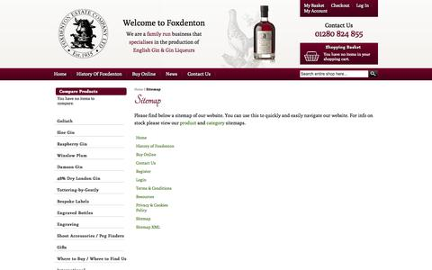 Screenshot of Site Map Page foxdentonestate.co.uk - Sitemap - Foxdenton Estate - captured Oct. 6, 2014