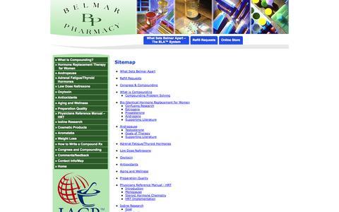 Screenshot of Site Map Page belmarpharmacy.com - Belmar Pharmacy - captured Sept. 30, 2014