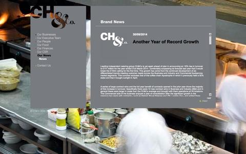 Screenshot of Press Page chandco.net - CH&Co - captured Oct. 8, 2014