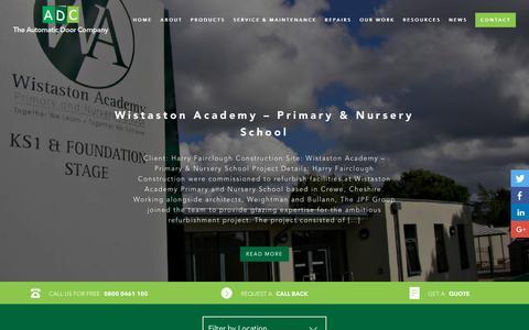 Screenshot of Case Studies Page theautomaticdoorco.com - Case Studies | UK's No.1 Automatic Doors | The Automatic Door Company - captured Oct. 20, 2018