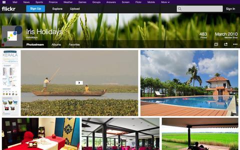 Screenshot of Flickr Page flickr.com - Flickr: irisholidays' Photostream - captured Oct. 23, 2014