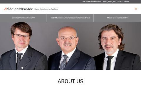 Screenshot of About Page amacaerospace.com - About Us   AMAC Aerospace - captured Oct. 2, 2018