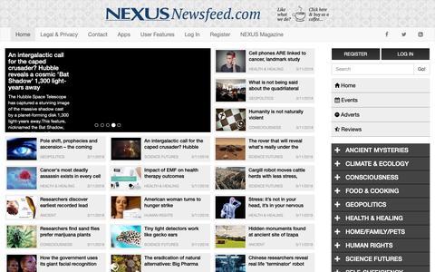 Screenshot of Privacy Page Team Page nexusnewsfeed.com - Home - Nexus Newsfeed - captured Nov. 3, 2018
