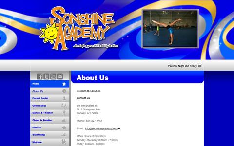 Screenshot of Contact Page sonshineacademy.com - Sonshine Academy - About Us - captured Oct. 9, 2014