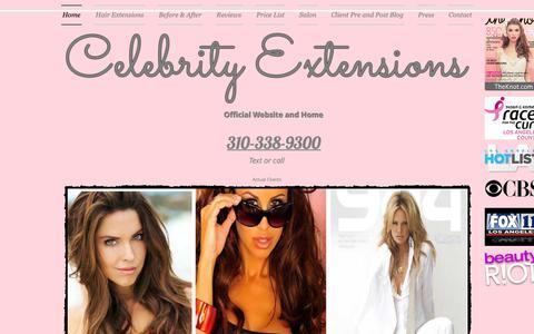 Screenshot of Home Page celebrityextensions.com - Celebrity Extensions | Best Hair Extensions | Hair Extensions - captured Sept. 27, 2018