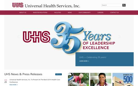 Home - Universal Health Services