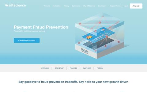 Payment Fraud Prevention & Chargeback Protection | Sift Science
