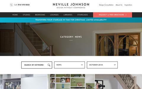Screenshot of Press Page nevillejohnson.co.uk - News Archives - Neville Johnson - captured Oct. 18, 2018