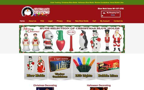 Screenshot of Home Page christmaslightscreations.com - Blow Molds and Christmas Lights | Christmas Lights Creations - captured Sept. 20, 2015