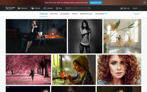 Screenshot of Team Page 500px.com - Most Popular People Photos on 500px Right Now - captured Dec. 27, 2015