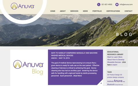 Screenshot of Blog anuva.com - Blog Posts Archive - Anuva - captured May 30, 2017