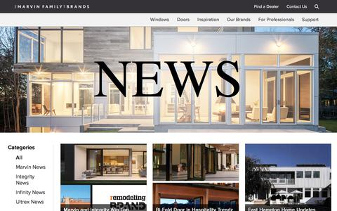Screenshot of Press Page marvin.com - Marvin News and Media | Marvin Family of Brands - captured Nov. 12, 2017