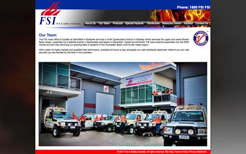 Screenshot of Team Page fireandsafety.com.au - Our Team - www.fireandsafety.com.au - Fire Protection Services - captured Oct. 6, 2014