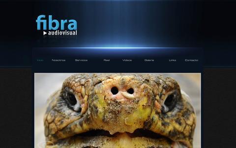 Screenshot of Home Page fibraproducciones.cl - Fibra Audiovisual - captured Oct. 5, 2014