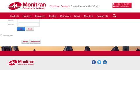 Screenshot of Login Page monitran.com - User Log In - captured Oct. 23, 2017