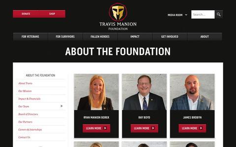 Screenshot of Team Page travismanion.org - Branch  Our Team | The Travis Manion Foundation - captured Oct. 7, 2014