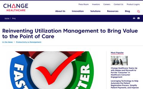 Screenshot of Team Page changehealthcare.com - Reinventing Utilization Management to Bring Value to the Point of Care | Change Healthcare - captured Feb. 20, 2020