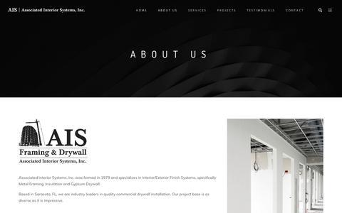 Screenshot of About Page associatedinteriorsystems.com - ABOUT US – My Blog - captured Oct. 4, 2018