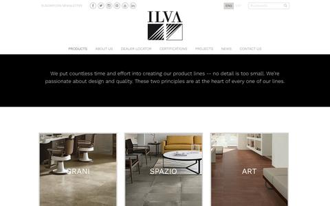 Screenshot of Products Page ilva.com.ar - Products – ILVA - captured Nov. 25, 2016