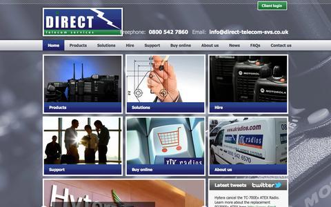 Screenshot of Home Page direct-telecom-svs.co.uk - Direct Telecom Services - Home - captured Oct. 5, 2014
