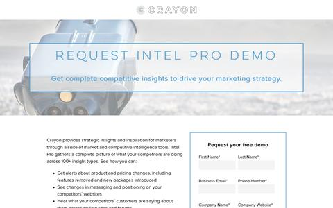 Free Demo of Crayon Competitive Intelligence