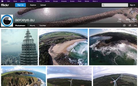 Screenshot of Flickr Page flickr.com - Flickr: aeroeye.au's Photostream - captured Oct. 23, 2014