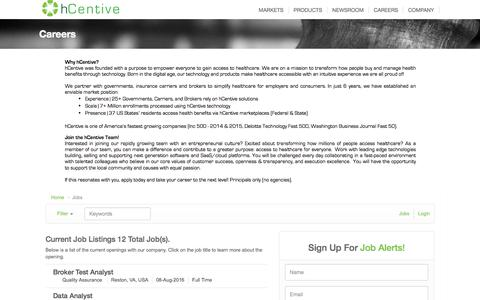 Job Listings - hCentive Jobs