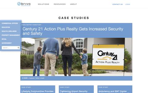 Screenshot of Case Studies Page brivo.com - Cloud-Based Access Control Systems Case Studies - captured Feb. 2, 2017