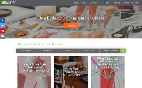 Screenshot of Press Page ezcater.com - Restaurant Archives - ezCater - captured Aug. 14, 2018
