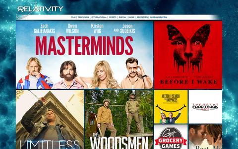 Screenshot of Home Page relativitymedia.com - Home - Relativity Media Corporate - captured Oct. 1, 2015
