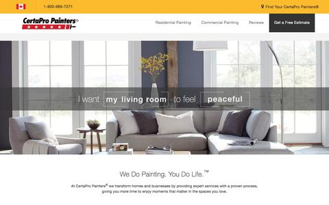 Screenshot of Home Page certapro.com - CertaPro Painters | Professional House Painting Contractors and Professional Commercial Painting Contractors - captured Jan. 8, 2017