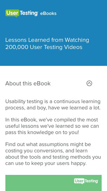 Lessons Learned from Watching 200,000 User Testing Videos | UserTesting