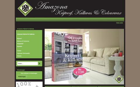 Screenshot of Contact Page mijnwebwinkel.nl - Amazona Krijtverf & Kalkwas | Breng sfeer in uw interieur - captured Nov. 2, 2014