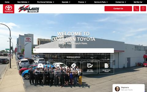 Screenshot of Home Page oaklawntoyota.com - Toyota Dealer Oak Lawn IL New & Used Cars for Sale near Chicago IL - Oak Lawn Toyota - captured Jan. 18, 2018