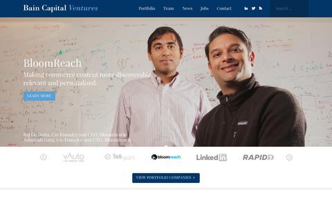Home - Bain Capital Ventures